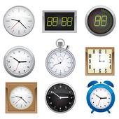 Conjunto de relógio. — Vetorial Stock