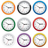 Clock set. — Stock Vector
