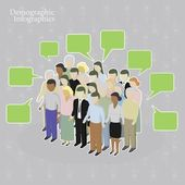 Demographic infographics. — Vector de stock