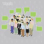 Demographic infographics. — Stock Vector