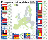 European Union states complete collection — Vector de stock