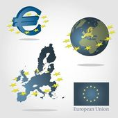 European union symbols concept. — Stock Vector