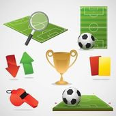 European football design elements. — Stock Vector