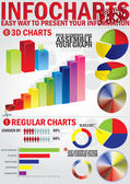 Info Chart creative pack — Stock Vector