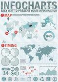 Pacchetto creativo di informazioni grafico — Vettoriale Stock
