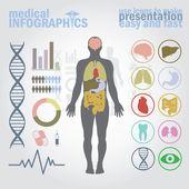 Infografica medica. — Vettoriale Stock