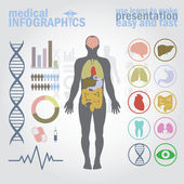 Infografiki medyczne. — Wektor stockowy