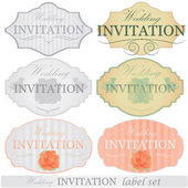 Wedding invitation labels set — Vector de stock