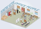 Isometric office with — Vector de stock