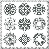 オリエンタル風の装飾要素 — ストックベクタ