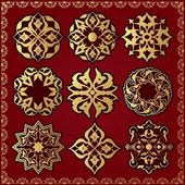 Oriental style ornament elements — Vector de stock
