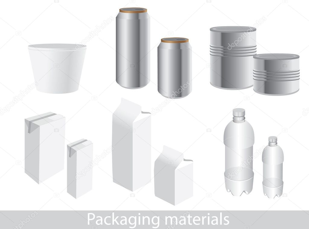 Vector packaging icon set. Dummies to place your design on. — Stock Vector #11270074