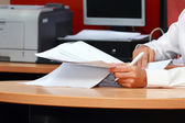 Analyzing paper work — Stock Photo