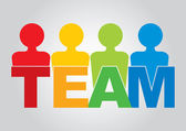 Team - communication concept — Stock Vector