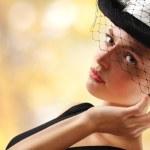 elegante giovane donna — Foto Stock