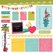 Scrapbook Design Elements - Birthday Baby Set - in vector - Stock Vector