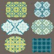 Vintage Tiles Design elements for scrapbook - Old tags and frame — Imagen vectorial
