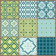 Seamless backgrounds Collection - Vintage Tile - for design and — Stock vektor