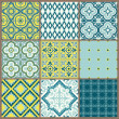 Stock Vector: Seamless backgrounds Collection - Vintage Tile - for design and