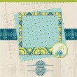 Scrapbook Design Elements - Vintage Card with Photo Frame - in v — Imagen vectorial