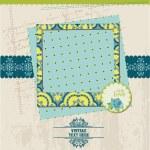 Scrapbook Design Elements - Vintage Card with Photo Frame - in v — Stock Vector #10999521