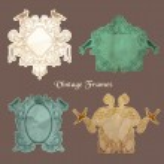 Vintage Frames and Design Elements- for wedding, invitation — Stock Vector