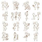 Wedding Doodles - Design Elements - for Scrapbook, Invitation — Stock Vector
