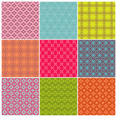 Seamless backgrounds Collection - Vintage Tile - for design — Stock Vector