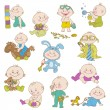 Постер, плакат: Baby Boy Doodle Set for design scrapbook shower card