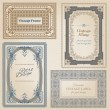 Vintage frames and design elements - with place for your text - Векторная иллюстрация