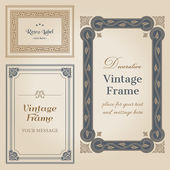 Vintage frames and design elements - with place for your text — Stock Vector