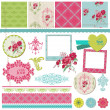 Scrapbook Design Elements - Vintage Flower Card with Photo Frame — Stock Vector #11598375