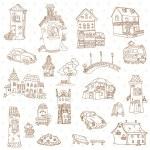 Scrapbook Design Elements - Small Town Doodles - in vector — Stock Vector #11630477