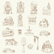Scrapbook Design Elements - Small Town Doodles - in vector — Stock Vector #11630814