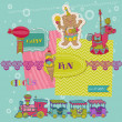 Vetorial Stock : Scrapbook Design Elements - Birthday Party Child Set - in vector