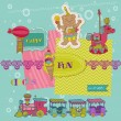 Stok Vektör: Scrapbook Design Elements - Birthday Party Child Set - in vector