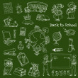 Royalty-Free Stock Vector Image: Back to School Doodles - Hand-Drawn Vector Illustration