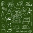 Back to School Doodles - Hand-Drawn Vector Illustration — Stock Vector
