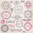 Vector Set: Calligraphic Design Elements and Page Decoration — Stock Vector #12007642