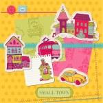 小镇废-剪贴和设计-向量中 — 图库矢量图片