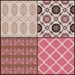 Set of Vintage Tiles Backgrounds - design elements for scrapbook — Stock Vector #12135874