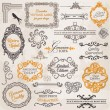 Vector Set: Calligraphic Design Elements and Page Decoration — Stock Vector #12135880