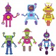 Cute little Robots Collection - for your design or scrapbook — Stock Vector