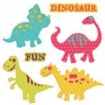 Scrapbook Design Elements - Сute Dinosaur Set - in vector — Stock Vector