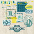 Royalty-Free Stock Vector Image: Scrapbook Design Elements - Gentlemen Accessories doodle collection - hand drawn in vector