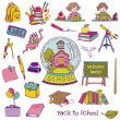 Scrapbook Design Elements - Back to School - for design and scra — Stock Vector