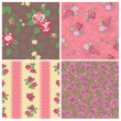 Seamless background Collection - Vintage Flowers - for design — Stock Vector #12325175
