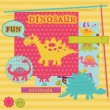 ScrapBook ontwerpelementen - baby dinosaurus set - in vector — Stockvector