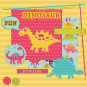 Scrapbook Design Elements - Baby Dinosaur Set - in vector — Stock Vector