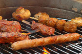 Barbecue in the garden - 2 — Stock Photo